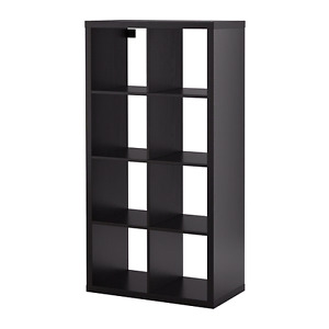 Ikea KALLAX Bookshelf x3 Black-Brown