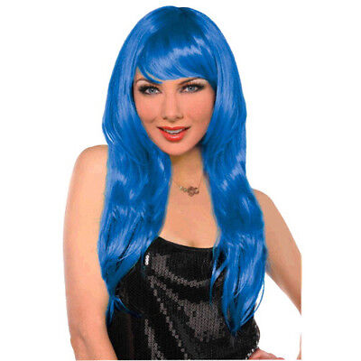 BLUE GLAMOROUS WIG for KIDS OR ADULTS ~ Birthday Party Supplies Halloween Girl - Halloween Wigs For Kids