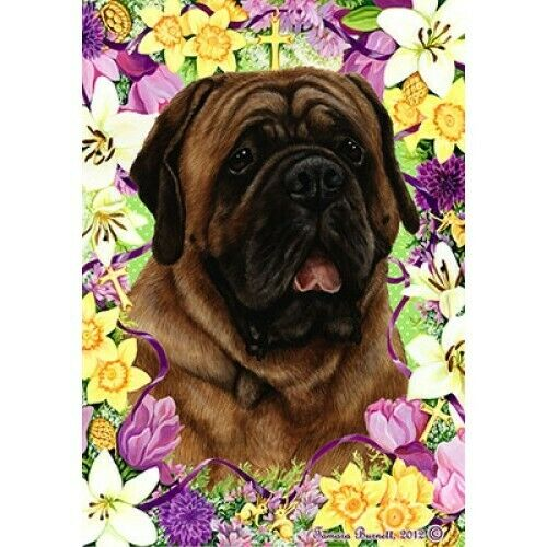 Easter Garden Flag - Red Mastiff 332761
