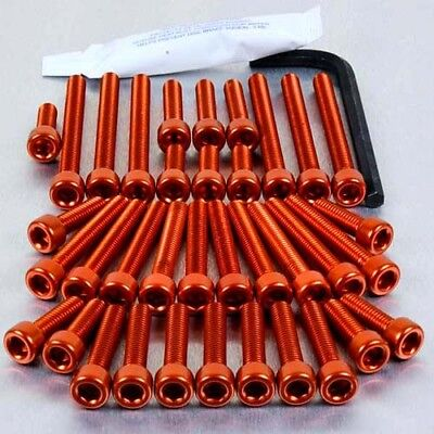 Pro-Bolt Aluminium Engine Bolt Kit - Orange EKA297O Kawasaki Z1000 07-09