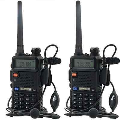 2X BAOFENG UV-5R Dual Band UHF/VHF Radio RF 4W OUTPUT NEW version free earpiece on Rummage