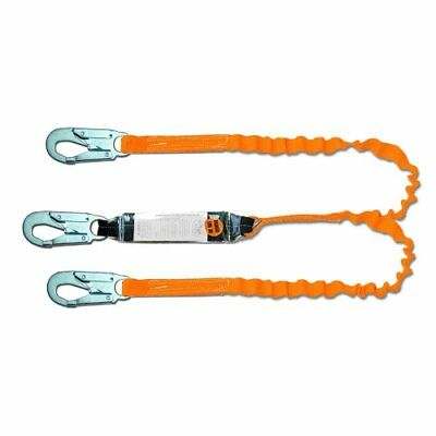 Guardian Fall Protection 11901 6-foot Tiger Tail Double Leg Stretch Lanyard W...
