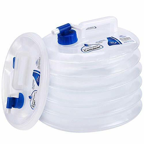 Collapsible Water Container, Premium Portable Water Storage Jug Food 3.9 Gal