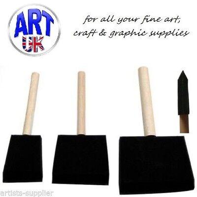 Jakar Sponge Brushes Ideal for Mod Podge, Glass Painting, Stencils etc. (Mod Podge Glass)