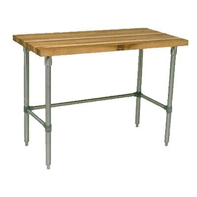 John Boos Jnb11 Wood Top Work Table 96w X 30d