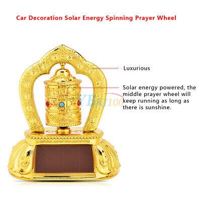 Car Truck Tibetan Tibet Buddhist Solar Energy Spinning Prayer Wheel Golden Stog