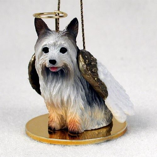 SILKY TERRIER Dog ANGEL Tiny One Ornament Figurine Statue