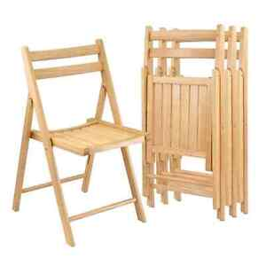 ISO Folding wooden chairs