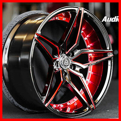 "20"" STG MQ 3259  DEEP concave /BLACK RED FIT Civic Accord CR-V S2000"
