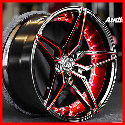 "20"" STG MQ 3259  DEEP concave /BLACK RED FIT Civic Accord CR-V S2000"