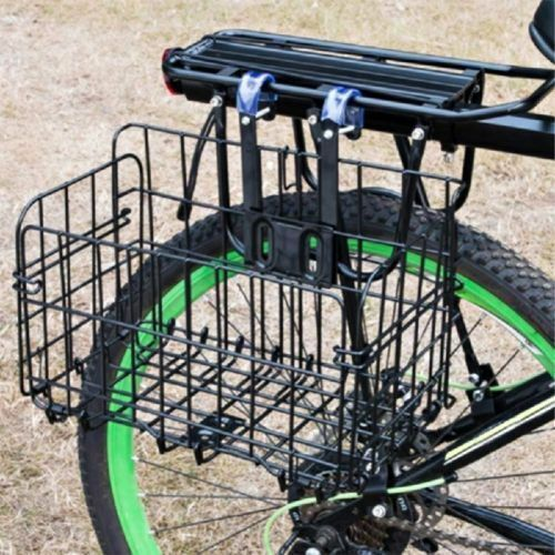 Bicycle Front Rear Shelf Basket Mountain Bike Folding Hanging Metal Basket
