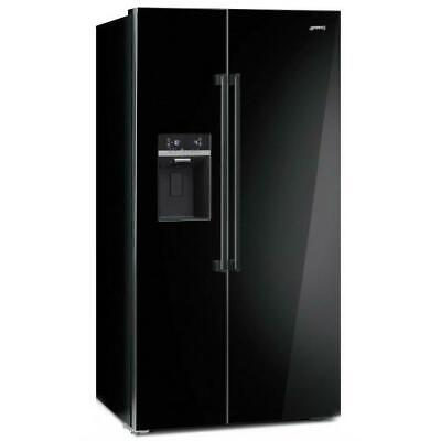 SMEG SBS63NED FRIDGE SIDE BY A+ 90 CM BLACK TOUCH DISPLAY NO FROST DISPENSER for sale  Shipping to United Kingdom