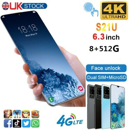 "Android Phone - 6.3"" Large Screen Smartphone Android 6.0 Quad Core 2SIM Unlocked Mobile Phone"