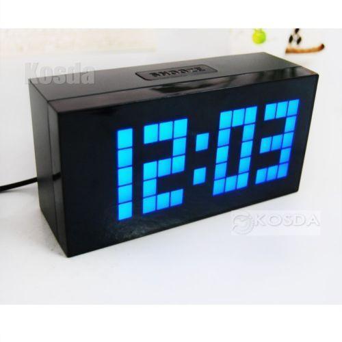 Large Led Clock Ebay