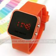 Mens Orange Face Watch