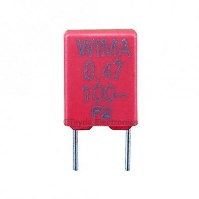 5 X 470nf 0.47uf 100v 5 Wima Brand Polyester Film Box Type Capacitor Usa Seller