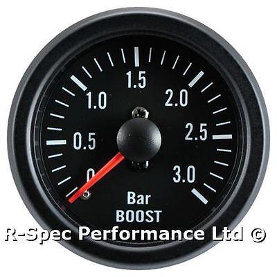 3 Bar Turbo Diesel 52mm Black Face Mechanical Boost Pressure Gauge - Tdi Td Dt