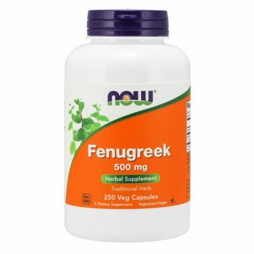 NOW Foods Fenugreek, 500 mg, 250 Veg Capsules