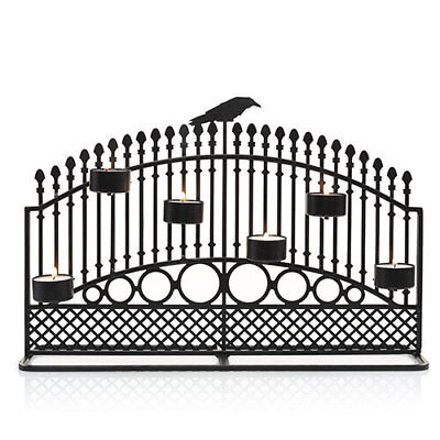 Yankee Candle Halloween Raven Night Gate Fence Multi Tea Light Holder 2017 - Yankee Candle Halloween 2017