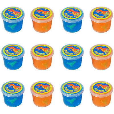 DINOSAUR Prehistoric Party OOZE PUTTY (12) ~ Birthday Supplies Favors Toys T-Rex - Prehistoric Party Supplies