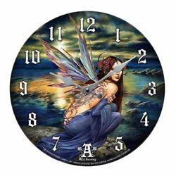 Sylundine Fairy Decor Wall Clock Round Plate Diameter 13.5