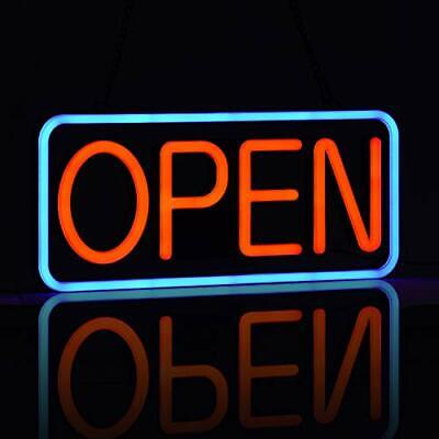 Led Neon Open Sign For Businessultra-long Power Cordtwo Modes Flashing