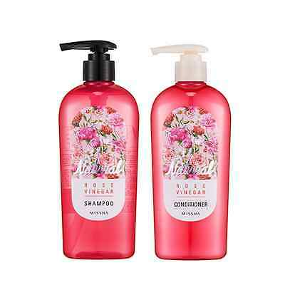 Missha Natural Rose Vinegar Shampoo/Conditioner Duo Set 310ml*2