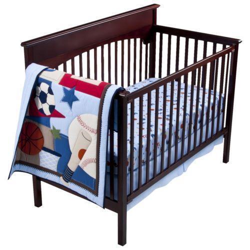 baby boy sports bedding ebay. Black Bedroom Furniture Sets. Home Design Ideas