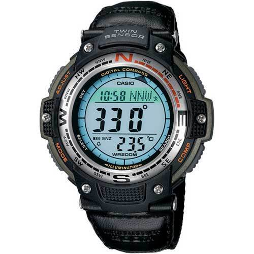 Casio Men's Digital Compass Twin Sensor Sport Watch Green SGW100B-3V