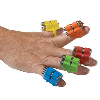 FABE-100470-Fabrication Fingerweights Exerciser Set, Multi-Colored, 5 Count