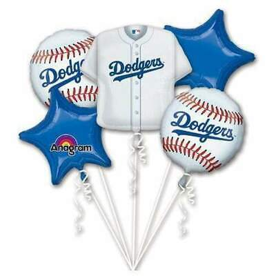 Dodgers Baseball ITFDB 5pc Bouquet Birthday Party Foil Balloons Decorations