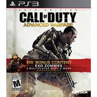 4 jeux de ps3 pour 40$ incluant call of duty advanced warfare