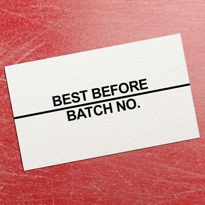 36,000 Best Before / Batch No. Price Date Labels - 26mm x 16mm