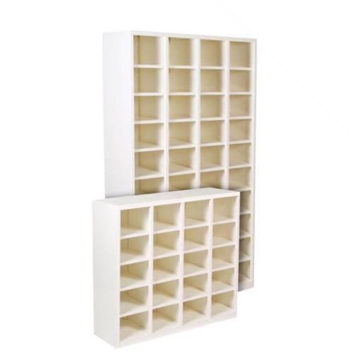 Pigeon Hole Shelving Storage Unit 20 A4 Slots Filing Shelf White
