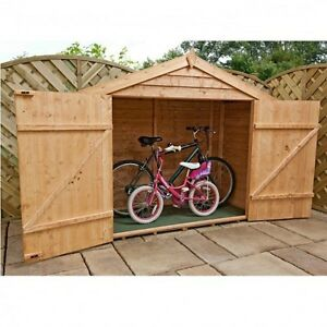 Bike Storage Shed Outdoor Garden Store Bikes Tools Bbq Patio Furniture All Year