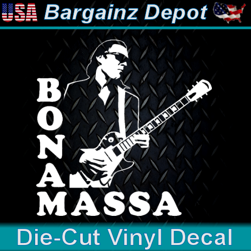Vinyl Decal ... JOE BONAMASSA ... Laptop Car Sticker Decal B