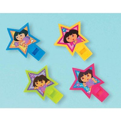 DORA THE EXPLORER Star Catcher WHISTLES (4) ~ Birthday Party Supplies Favors ()