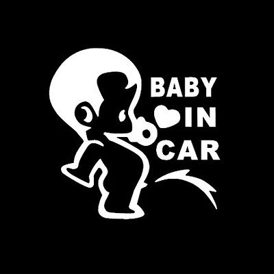 "5.5"" Baby on Board cute funny decal window sticker Van Suv Car Custom Vinyl pee"