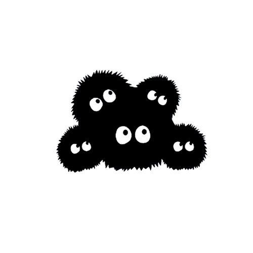 Spirited Away Dust Bunnies Decal Sticker for Car Window Laptop Mackbook Air Pro