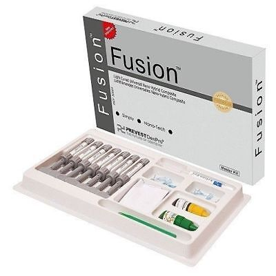 Fusion Universal Kit Nano Hybrid Composite Kit Prevest 7x4g1 Bond Dental