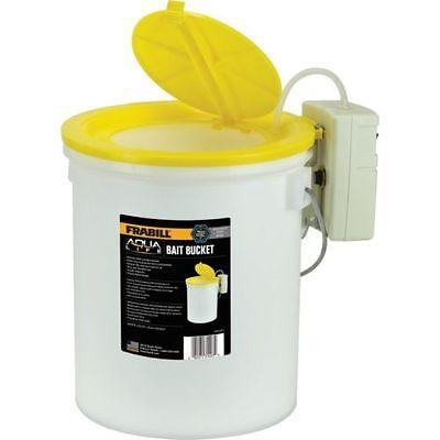 Frabill Aqua Life Aerated 8 Quart Insulated Bait Bucket w/ 1433 Bait Aerator NEW