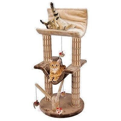 Two Story Cat Perch and Play Tree with Mouse Toys ()