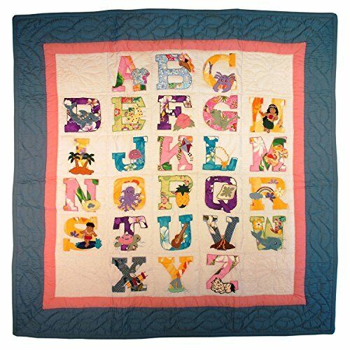 Regency Marketing Hawaii Style Baby Quilt or Wall Hanging ABC Pastel