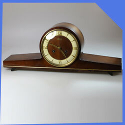 HERMLE Germany Wooden Brass Mantel Shelf Table Mechanical Wind up Clock Chimes