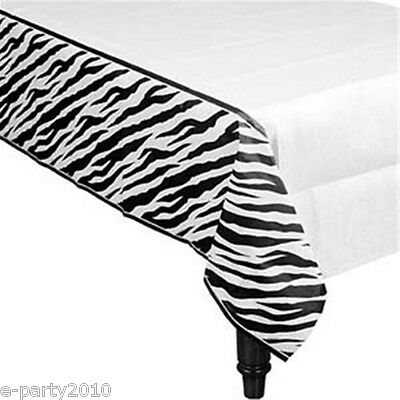 TABLECOVER ~ Birthday Party Supplies Room Table Decorations (Zebra Party Supplies)