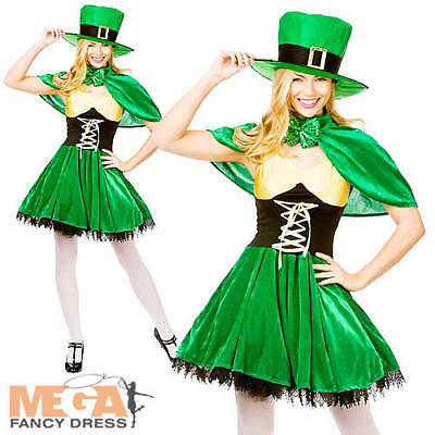 Lucky Leprechaun Lady St Patricks Fancy Dress Ladies Irish Womens Adults Costume](Lucky Lady Costume)