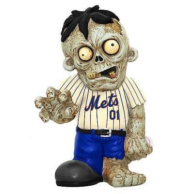 New York Mets Zombie in White Jersey FOCO Statue Bobblehead Halloween ()
