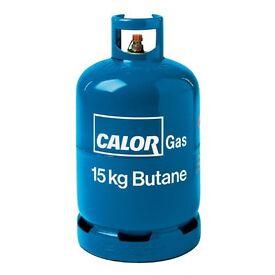 Blue gas bottle