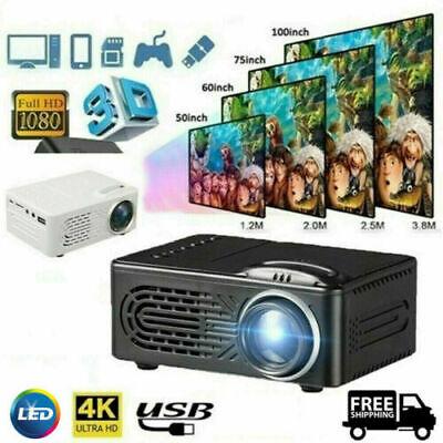 1080P 4K 7000LM LED Mini Projector Full HD Moive Home Cinema Theater AV Hot