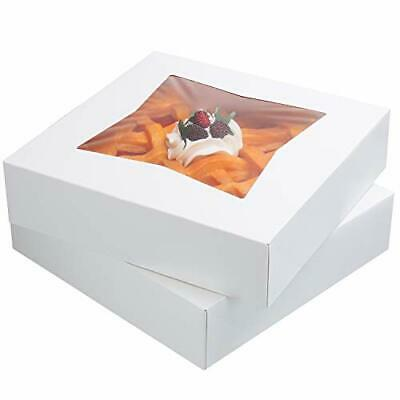 12 Pack- 10 Inch Pie Cake Boxes Auto Pop Up Pie Window Box Cookie Bakery Box